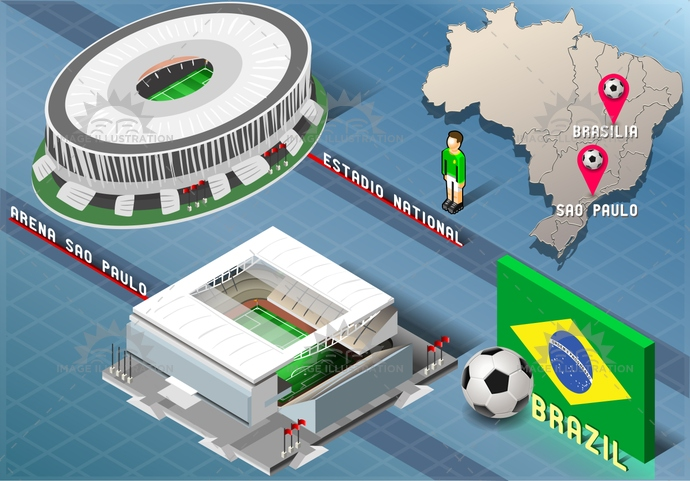 america, arena, background, ball, blue, brasil, brasilia, brazil, championship, flag, football, green, icons, infographic, isolated, isometric, map, national, player, saopaulo, soccer, south, stadium, tourism, world, yellow