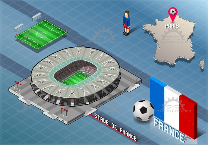 athlete, background, ball, bowl, building, championship, competition, cup, europe, field, flag, football, france, green, icon, illustration, infographic, isometric, league, map, national, paris, player, soccer, sport, stadie, stadium, tourism, vector, world