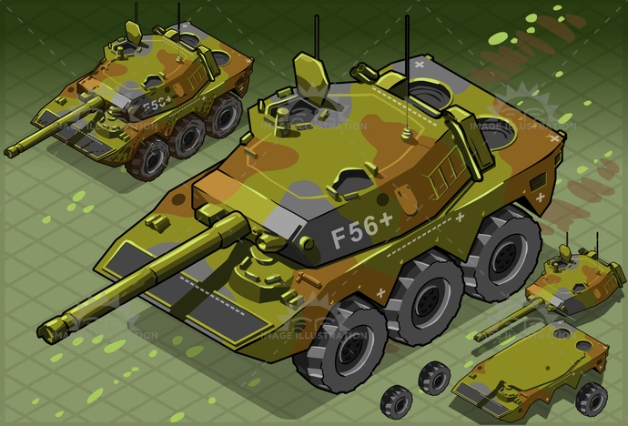 armed, armor, armored, army, artillery, attack, background, battle, camouflage, cannon, crawlers, forces, gun, Headlight, heavy, illustration, industry, isometric, machine, military, mimetic, panzer, silhouette, tailgate, tank, technology, tower, vehicle, war, weapon