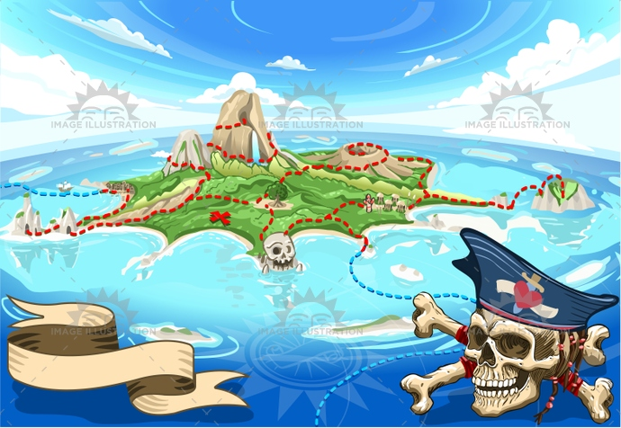 adventure, background, bay, buccaneer, caribbean, child, coral reef, cove, fantasy, fear, fisheye, gadget, game, illustration, island, map, murals, neverland, party, pirate, placeholder, skull, spellbound, tale, time, treasure, vector, waterfall, wild, wind star