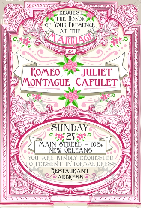 announcement, background, banner, border, calligraphy, celebration, certificate, classic, collection, decoration, drawing, engraving, floral, frame, greeting, invitation, juliet, label, love, marriage, menu, old, paper, retro, ribbon, romeo, sign, vintage, wedding