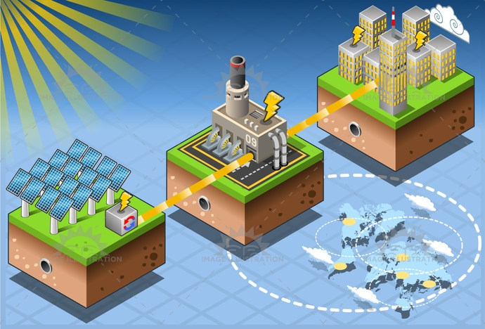 alternative, city, clean, Diagram, ecology, Electricity, energy, environment, farm, Generator, green, harvesting, house, illustration, infographic, isometric, Power Station, renewable, seascape, set, solar, Source, sun, technology, tower, turbine, vector, windmill