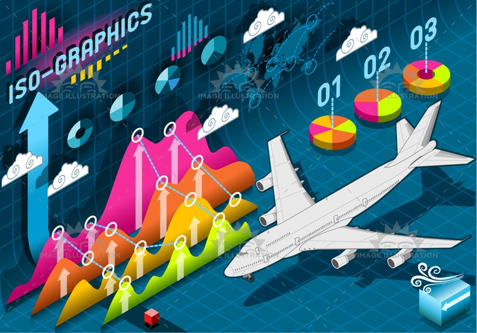 aircraft, airplane, airport, bar, business, chart, concept, cost, curve, data, Diagram, fly, graph, graphic, histogram, icon, infographic, information, isolated, isometric, jet, percentage, plane, presentation, report, sign, transport, worldmap