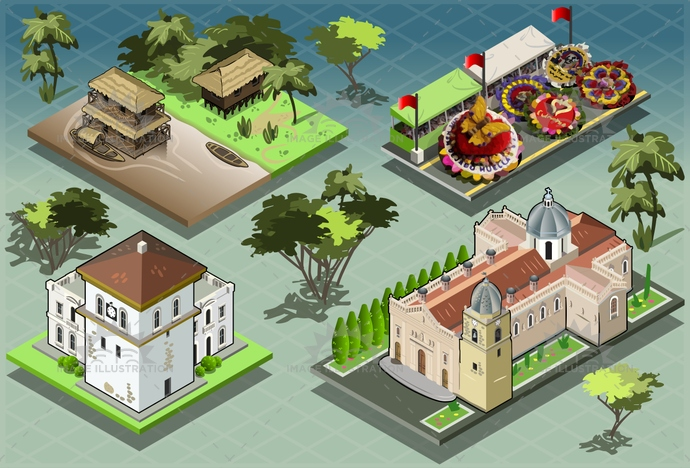 adventure, amazonia, america, argentina, brazil, building, carribean, church, cottage, exotic, flower, forest, holidays, hotel, illustration, infographic, isolated, isometric, parade, paradise, resort, south, tourism, tower, travel, tropical, vacation, vector, venezuela, voyage