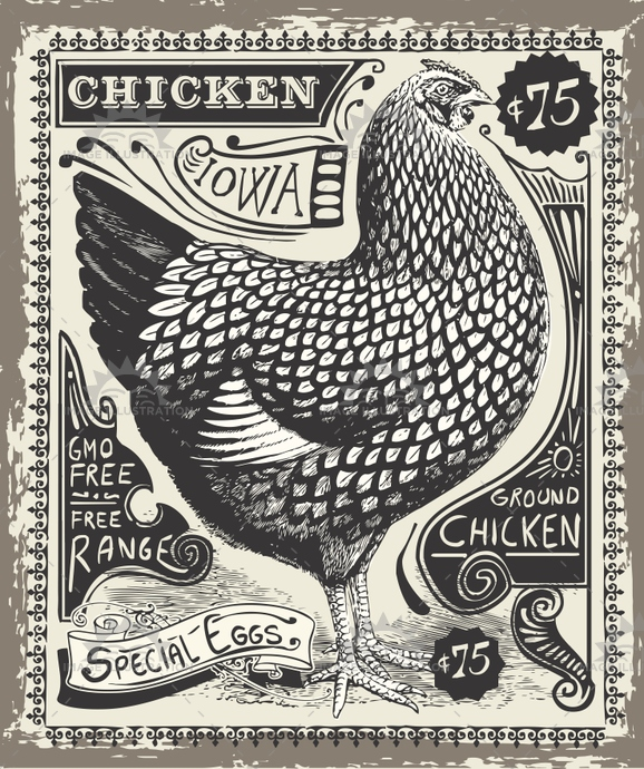 advertising, antique, banner, chicken, cook, crayon, cuisine, decoration, egg, food, fowl, gastronomy, handwriting, hen, illustration, insignia, iowa, menu, old, pastel, poultry, price, restaurant, romantic, rooster, shop, turkey, vector, victorian, vintage