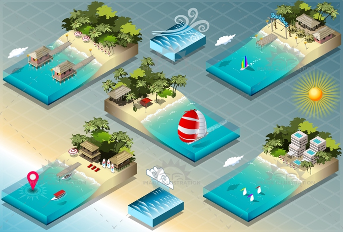 adventure, background, carribean, cottage, diving, exotic, fishing, holidays, honeymoon, hotel, illustration, infographic, isometric, marine, ocean, paradise, reef, resort, sail, sea, ship, sport, surf, tourism, travel, tropical, vacation, valentine, vector, wedding