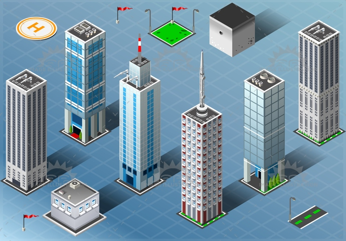 City 03 Building Isometric