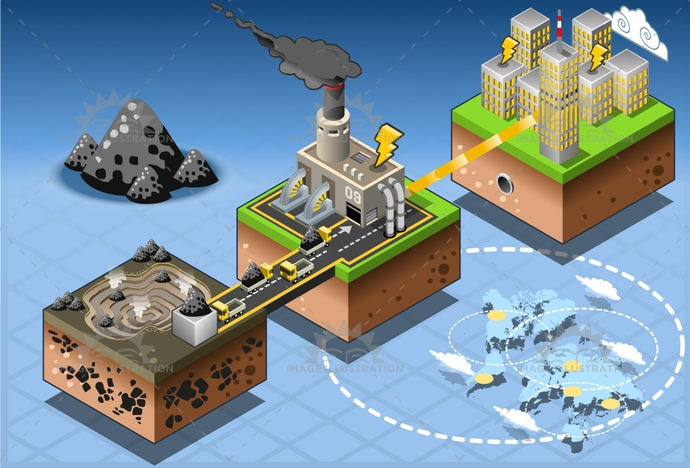 alternative, carbon, city, clean, co2, coal, Diagram, dioxide, Electricity, energy, environment, exchanger, farm, fuel, Generator, Geothermal, harvesting, house, illustration, infographic, isometric, plant, pollution, Power Station, pump, set, Source, technology, turbine, vector