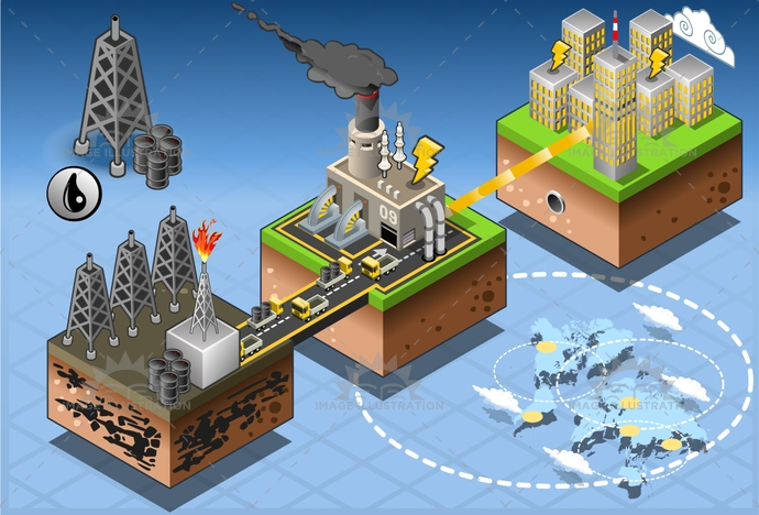 business, city, concept, crude, design, drilling, energy, extraction, farm, fuel, gas, gasoline, harvesting, house, illustration, industry, infographic, isometric, mining, oil, petroleum, pipe, plant, power, production, refinery, tower, transportation, turbine, vector