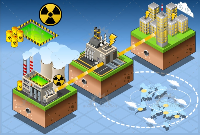 Energy 10 Infographic Isometric