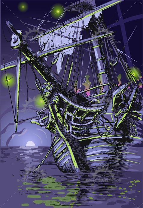adventure, background, black light, buccaneer, caribbean, cave, Dutchman, faery, Flying, galleon, ghost, halloween, haunted, illustration, invite, island, lion, moon, neverland, night, party, phantom, pirate, sail, sea, ship, shipwreck, treasure, vector, vessel