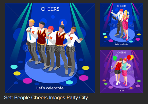 Corporate Party – Isometric People