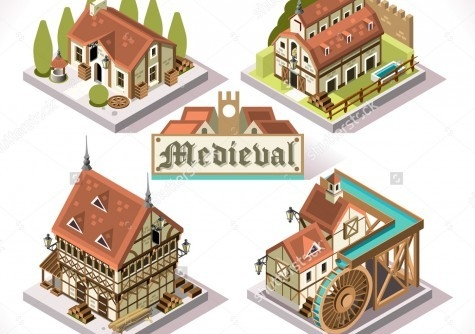 3D Flat Isometric Buildings for Game Developement
