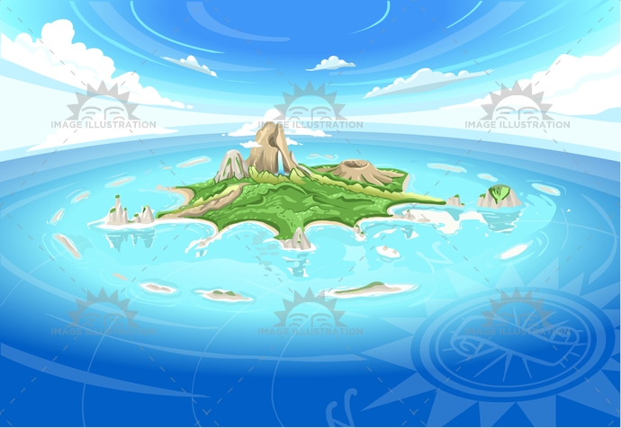 adventure, background, bird, buccaneer, caribbean, coral reef, cove, dream, fisheye, gift, honeymoon, illustration, island, journey, murals, mystery, nature, neverland, ocean, paradise, pirate, sea, sky, travel, treasure, vector, waterfall, wide angle, wild, wind star