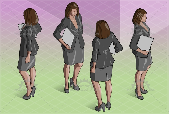 adult, archive, beautiful, boss, business, caucasian, fashion, female, girl, human, illustration, isolated, isometric, office, official, outfit, people, person, private, reception, representative, secretary, service, silhouette, standing, vector, white, woman, women, work