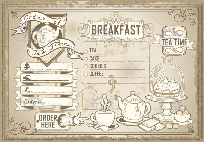 aged, ancient, antique, banner, cake, crayon, cuisine, cup, dollar, euro, font, food, gastronomy, handwriting, menu, old, pastel, plate, pointinghand, pound, restaurant, retro, romantic, scroll, sepia, teaspoon, typography, victorian, vintage