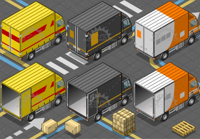 brand, cab, cargo, commercial, container, delivery, flashing, freight, industry, isolated, isometric, livery, object, pack, package, service, shipping, transport, Transportofgoods, truck, trucking, van, vehicle