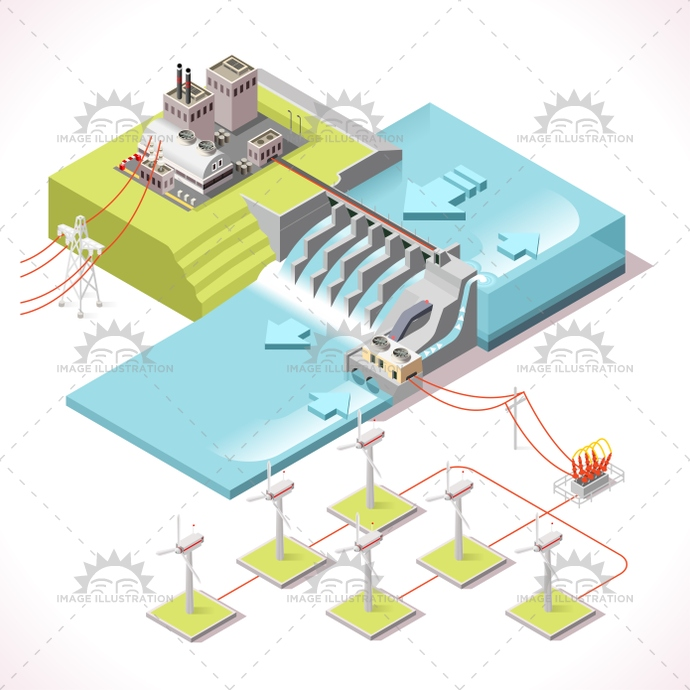 3d, alternative, app, background, banner, building, business, chain, city, collection, dam, Diagram, dike, eco, electric, Electricity, elements, energy, environment, farm, frame, Generator, green, grid, hybrid, hydroelectric, illustration, industry, infographic, isolated, isometric, management, map, plant, power, renewable, river, set, Source, stylish, supply, sustainable, technology, template, turbine, vector, water, web, wind, windmill