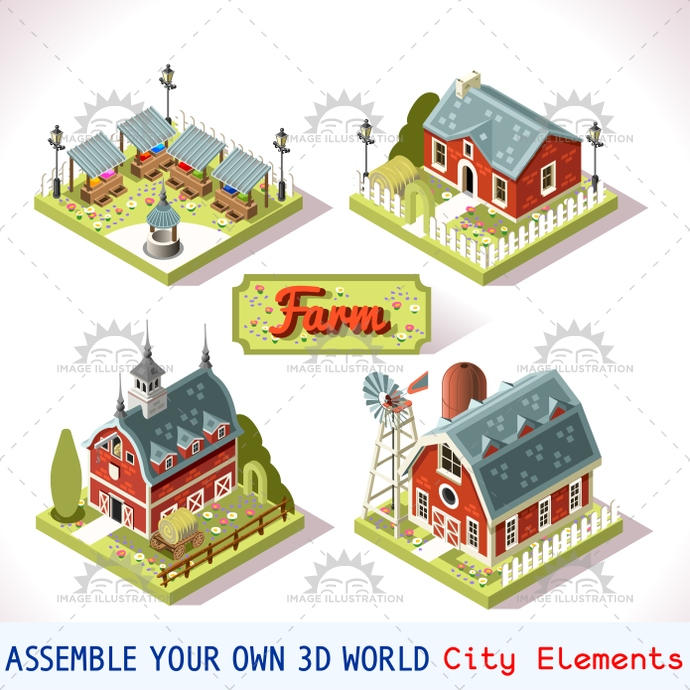 3d, app, architecture, assemble, barn, build, building, city, collection, complete, court, design, development, elements, fantasy, farm, farming, flat, game, icon, idea, illustration, infographic, insight, isolated, isometric, kit, landmark, map, medieval, modular, online, pack, package, pattern, place, project, rural, set, settlement, strategic, stylish, symbols, template, tiles, toolkit, vector, web, world