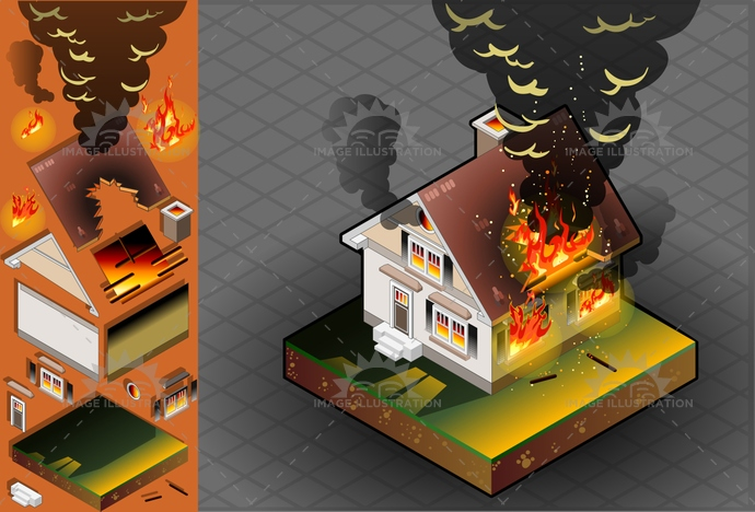 arson, blaze, Bungalow, burning, burnt, carbonized, Cracked, Damaged, danger, Demolished, Demolishing, destruction, DetachedHouse, disaster, ember, fire, flame, house, Inferno, insurance, isometric, NaturalForces, OutdoorFire, Ruined, smoke, spark