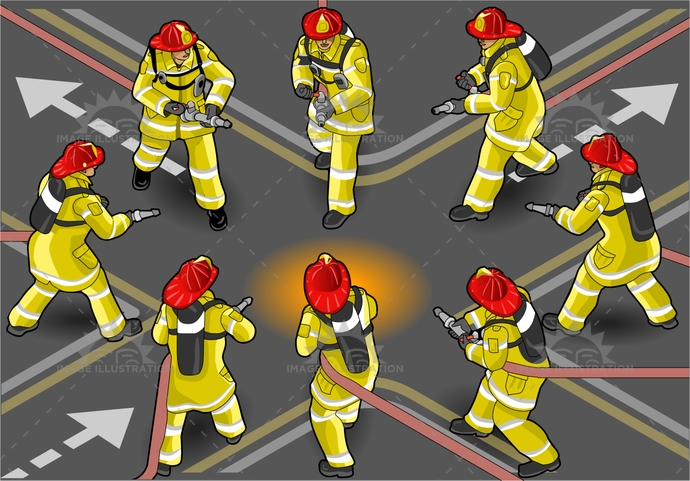 accident, adult, alarm, back, clean, clothes, clothing, danger, emergency, equipment, extinguisher, fire, firefighter, fireman, front, hand, heat, helmet, help, hero, humanbody, isolated, isometric, male, man, people, professional, red, runner, safety, salvage, security, sleeve, spout, tube, uniform, urgency