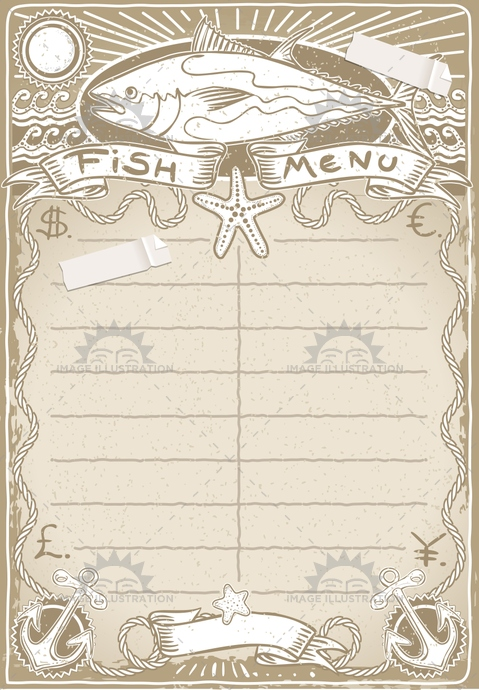 aged, ancient, antique, banner, communication, cook, crayon, cuisine, decoration, dinner, dollar, euro, fish, flower, food, freehand, gastronomy, handwriting, menu, old, restaurant, retro, rose, sepia, stamp, tuna, typography, vintage