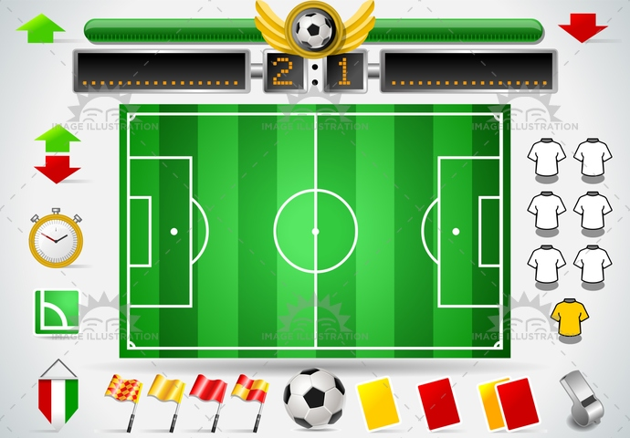 area, athletics, background, ballsport, championship, championsleague, competition, corner, court, field, flag, football, game, goal, infographic, match, pennant, play, playground, scoreboard, set, soccer, sport, stadium, stopwatch, team, template, uniform, whistle