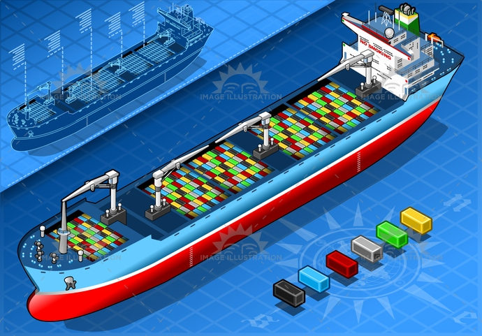 blue, boat, business, cargo, carrier, container, crane, delivery, export, freight, global, industrial, industry, isolated, isometric, lifeboat, logistics, navigation, ocean, sailing, sea, ship, shipping, tanker, trading, transport, transportation, vessel, water