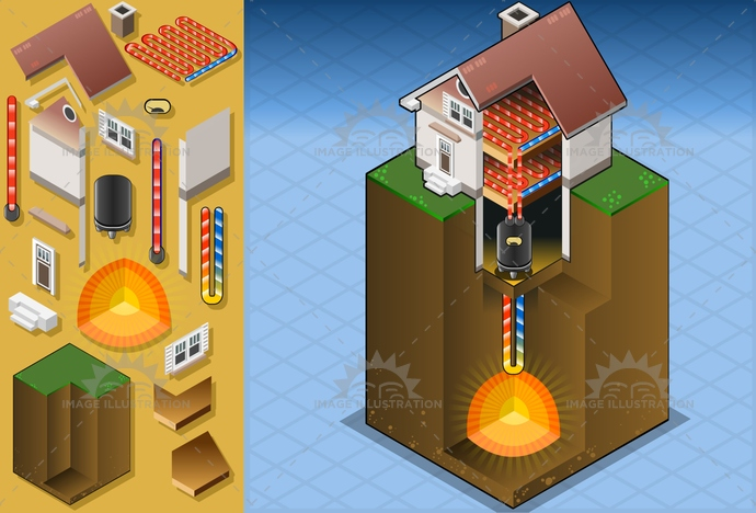 alternative, burning, Concepts, Diagram, energy, environment, exchanger, fire, floor, fluid, gas, Geothermal, heat, heating, hot, house, isometric, lava, loop, magma, pipe, PowerStation, PowerSupply, pump, Refrigeration, Source, steam, technology, volcanic, water