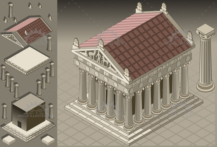 Acropolis, ancient, Antiquities, architecture, artistic, Athens, column, culture, Doric, Gray, greece, GreekCulture, history, isolated, isometric, Monument, Parthenon, Past, roman, romantemple, rome, Temple
