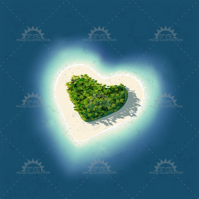 Heart Tropical Island 2D