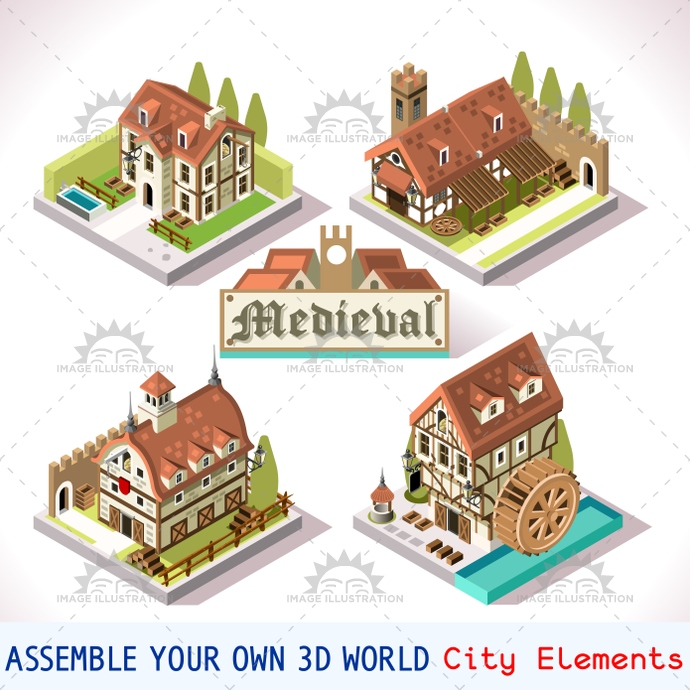 3d, app, architecture, building, city, collection, court, development, discovery, elements, estate, europe, fantasy, farm, flat, florence, game, house, icon, illustration, insight, isometric, kingdom, knight, landmarks, management, map, medieval, mill, mockup, online, pack, package, palace, play, private, puzzle, renaissance, set, siege, simulation, strategic, strategy, stylish, symbols, template, tile, vector, village, web
