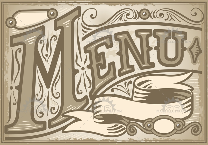 aged, ancient, antique, banner, communication, crayon, cuisine, decoration, dinner, font, food, gastronomy, handwriting, menu, old, paper, pastel, restaurant, retro, scroll, sepia, stamp, typography, vintage, western