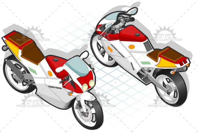 Cycling, drive, Guiding, isometric, landvehicle, motorcycle, RoadBiker, Scouting, Screens, transport, transportation, vector