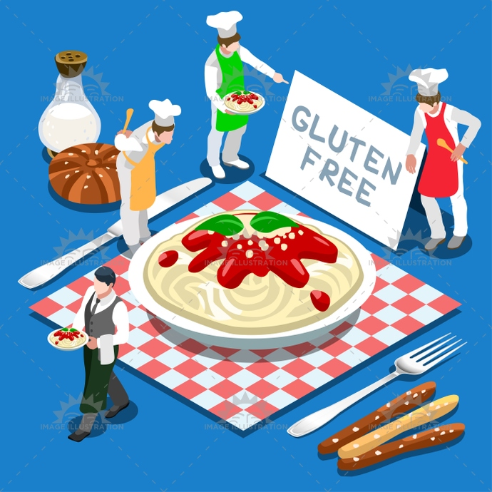 3d, allergy, app, away, carbohydrates, celiac, chef, colorful, control, corn, diet, dieting, dish, eating, fastfood, flat, food, free, gluten, healthy, illustration, isolated, isometric, italian, kitchen, logo, man, master, meal, micro, nutrition, organic, pasta, people, placemat, plate, products, restaurant, rice, self, service, sign, stylish, symbol, take, template, tomato, vector, vintage, web