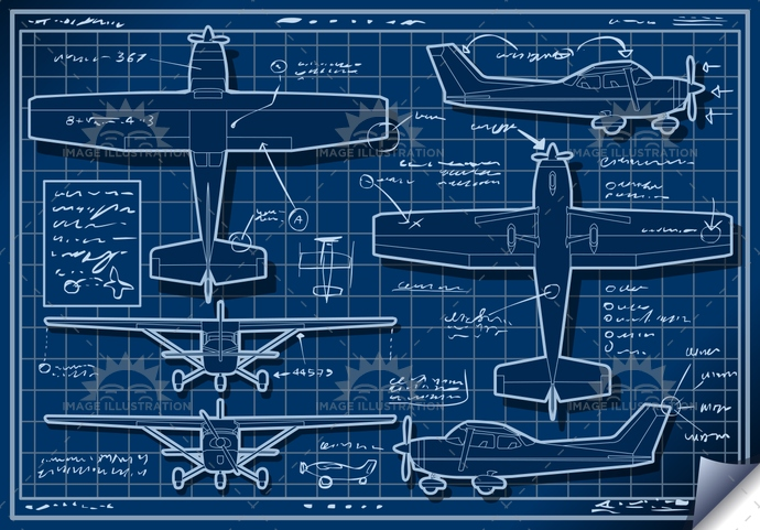 airforce, airplane, airscrew, AirVehicle, aviation, blueprint, cessna, CoastGuard, Diagram, engine, fly, helix, isolated, landed, old, orthogonal, orthographic, piper, plane, project, rotor, transportation, ultralight, vintage, wing