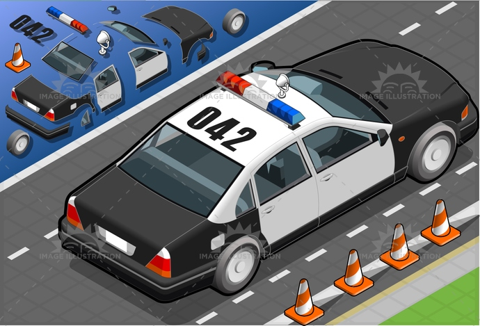 Alertness, assistance, car, control, governementvehicle, Headlight, industry, isolated, isometric, landvehicle, law, LawEnforcementAndCrime, modeofTransport, order, police, policeCar, security, securitysystem, siren, Sound, speed, Surveillance, urgency, VehicleInterior