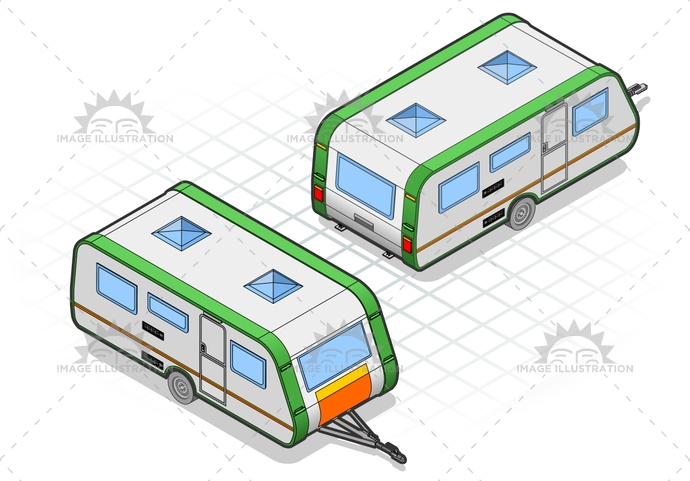 camper, camping, caravan, holiday, isolated, isometric, landvehicles, mobilehome, tourism, trailer, transport, travel, vehicle, wheel