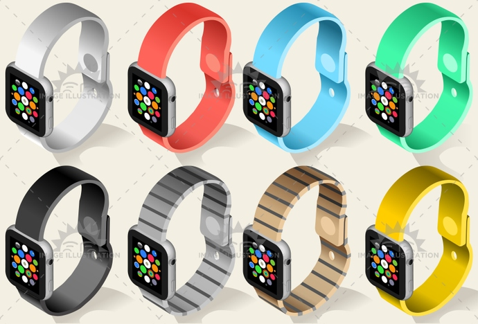 3d, device, display, electronic, eps, future, gadget, icon, illustration, innovation, interface, isolated, isometric, mobile, network, realistic, screen, smart, smartly, smartphone, technology, template, time, tuchscreen, vector, watch, wearable, web, wireless, wristband