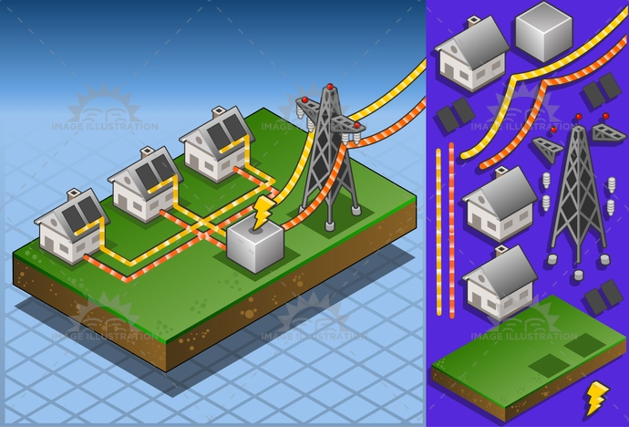alternative, architecture, cable, clean, Diagram, ecologic, electrical, Electricity, Electron, energy, green, house, infographic, isometric, panel, PowerStation, pylon, Resourceful, solar, Source, structure, tower, transformer