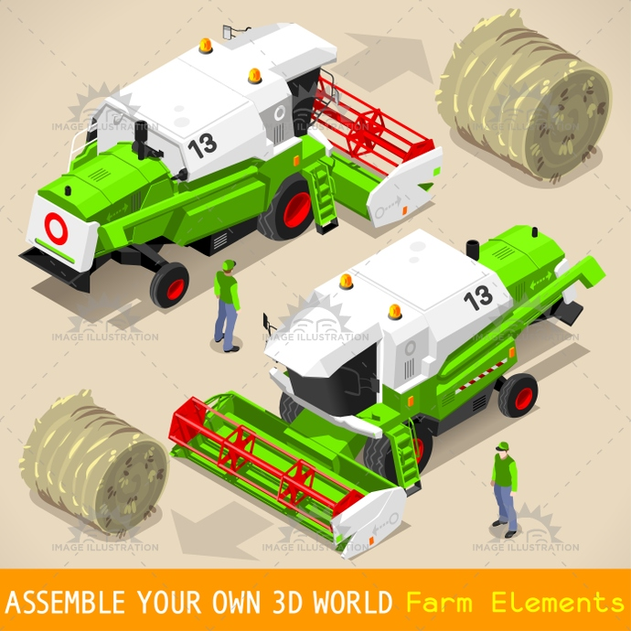 3d, agricultural, agriculture, background, bale, cereals, circle, collection, combine, crop, design, development, ear of corn, elements, environment, equipment, farm, farming, field, flat, food, game, golden, grain, green, growth, harvest, harvester, icon, industry, infographic, isolated, isometric, machine, nature, online, package, pasta, plant, plantation, production, rural, set, summer, symbols, thresher, tractor, transport, vehicle