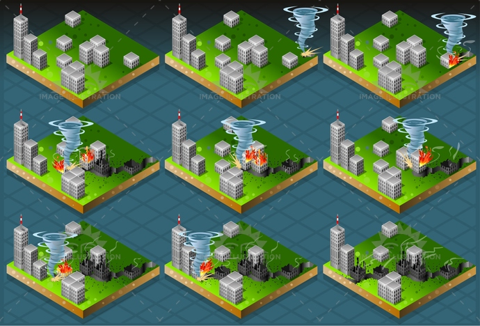 calamity, catastrophe, city, climate, clouds, cyclone, damage, danger, disaster, displaced, evacuation, flood, hurricane, isolated, isometric, palace, risk, sand, storm, tornado, tsunami, Typhoon, weather, wind