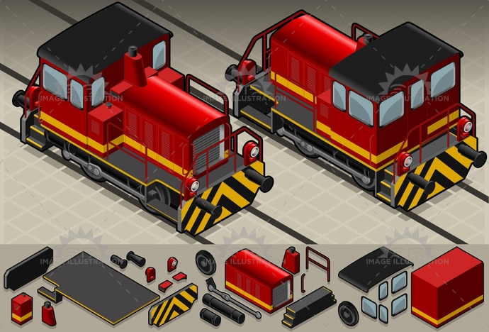 engine, grey, ICEtrain, isolated, isometric, locomotive, old, pantograph, publictransport, rail, railroad, RailroadTrack, railway, red, SideView, subway, train, tram, travel, vector