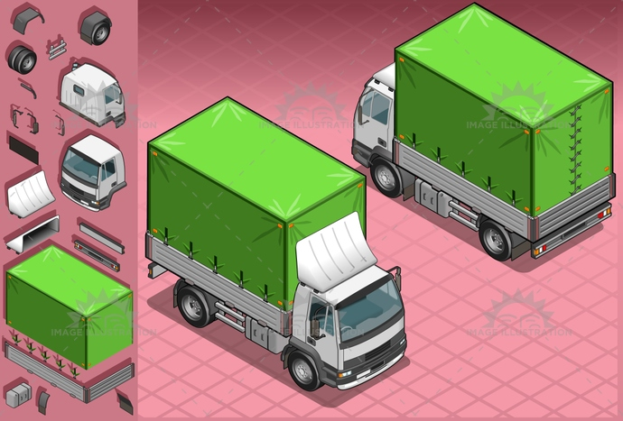 business, cargo, carrier, commerce, commercial, container, Delivering, drawing, driving, equipment, freight, front, Garbage, illustration, industry, isolated, isometric, land, Large, lights, Mode, motor, outline, package, profile, push, rear, reflector, semi, Sending, service, SideView, spotlight, tires, traffic, transport, transportation, travel, truck, trucking, truckload, vector, vehicle, wheels, wipers