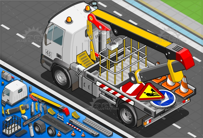 accidents, assistance, auto, breakdown, crane, crash, Damaged, danger, driving, elevator, emergency, help, insurance, isolated, isometric, lift, mechanic, platform, repair, rescue, road, roadsideassistance, service, tow, trailer, truck, vehicle, work, wreck