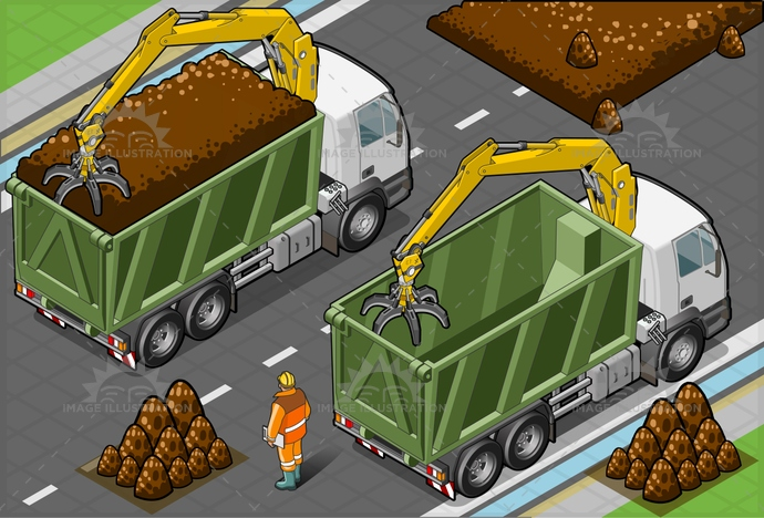 arm, CivilEngineering, construction, ConstructionMachinery, digging, dirty, EarthMover, equipment, foreman, Hardhat, heavy, HydraulicPlatform, industry, iron, isolated, isometric, landvehicle, machine, MachinePart, ManualWorker, men, mining, Occupation, Piston, power, Scraper, truck, Working