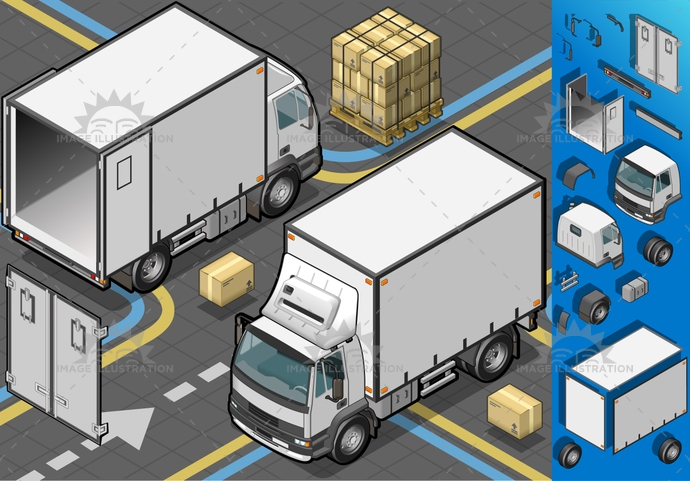 CargoContainer, carrier, cold, commerce, container, Delivering, frozen, ice, industry, isolated, isometric, landvehicle, MotorVehicle, outline, pack, package, Refrigeration, refrigerator, Sending, transport, Transportofgoods, truck, trucking