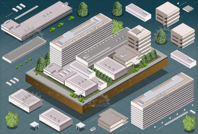 3d, apartment, architecture, block, blue, building, buildings, business, city, construction, design, estate, exterior, home, house, icon, icons, illustration, isolated, isometric, model, office, perspective, real, residential, set, skyscraper, urban, vector