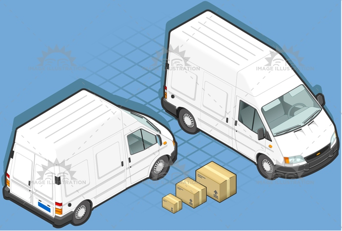 box, carrier, container, delivery, front, goods, isometric, landvehicle, lights, MotorVehicle, pack, paper, Pick, rear, tires, transpallet, transport, transportation, truck, up, van, view, wheels, wipers
