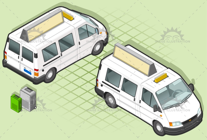 carrier, container, delivery, frontview, goods, isometric, landvehicle, lights, motor, pack, Pick, rearview, Taxi, tires, tourism, tourist, transpallet, transport, transportation, truck, up, van, vehicle, wheels, wipers